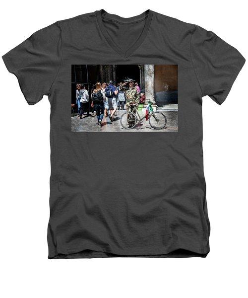Ww II Soldier Men's V-Neck T-Shirt