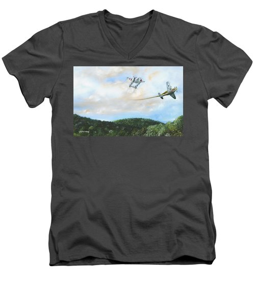 Wwii Dogfight Men's V-Neck T-Shirt
