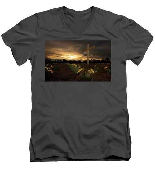 Wye Mountain Sunset Men's V-Neck T-Shirt