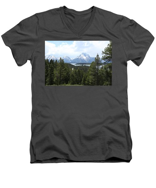 Wyoming 6490 Men's V-Neck T-Shirt by Michael Fryd
