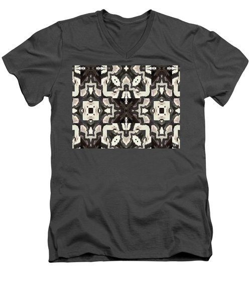 X Marks The Spot Men's V-Neck T-Shirt by Maria Watt