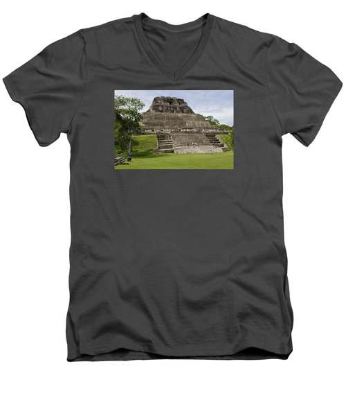 Xunantunich   Men's V-Neck T-Shirt by Glenn Gordon