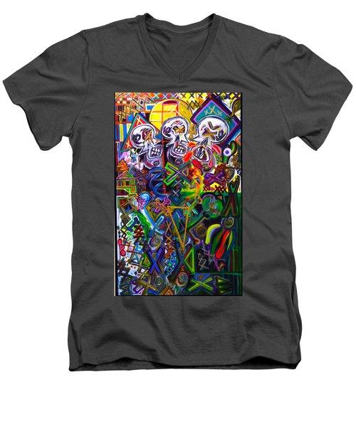 Xxxkull The Xxxiamese Twins  Men's V-Neck T-Shirt
