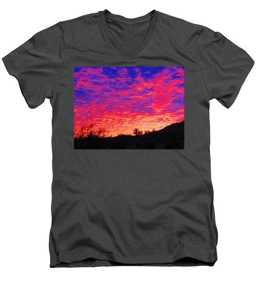 Y Cactus Sunset 1 Men's V-Neck T-Shirt