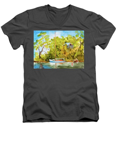 Yacht Weene' In Barnes Bay  Men's V-Neck T-Shirt