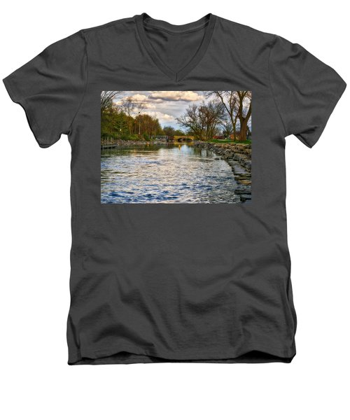 Yahara River, Madison, Wi Men's V-Neck T-Shirt