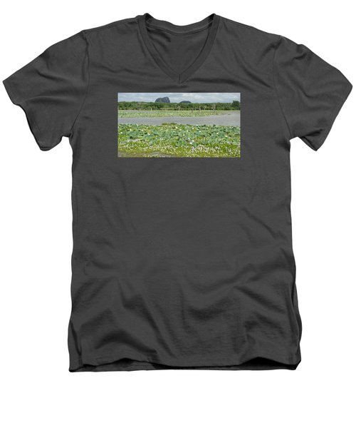 Yala National Park Men's V-Neck T-Shirt by Christian Zesewitz