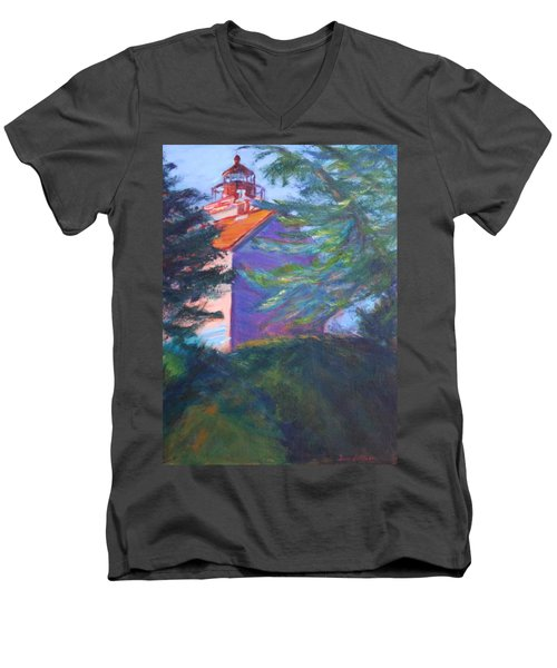 Yaquina Bay Lighthouse  Men's V-Neck T-Shirt