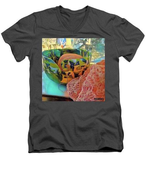 Yarn Bowl Men's V-Neck T-Shirt