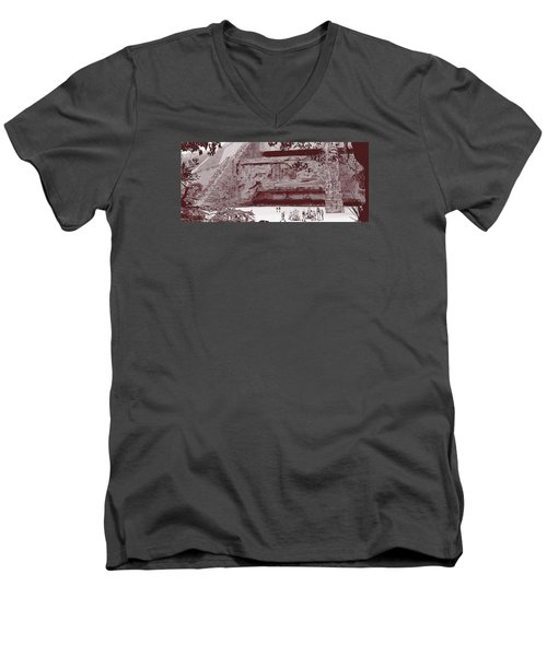 Yavin Temple Men's V-Neck T-Shirt by Kurt Ramschissel