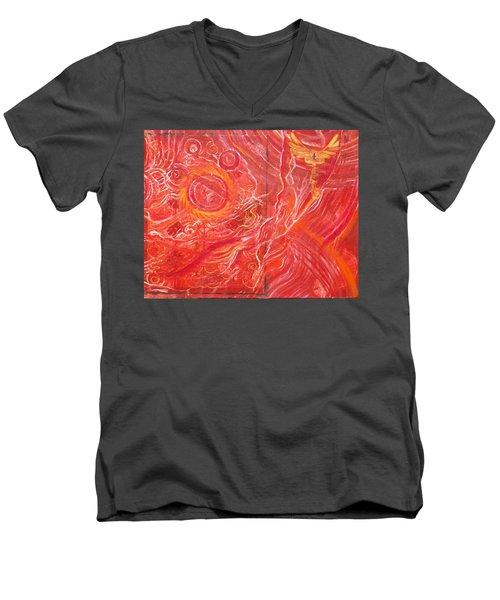 Yaweh El Shaddai Bottom Canvas Detail Men's V-Neck T-Shirt