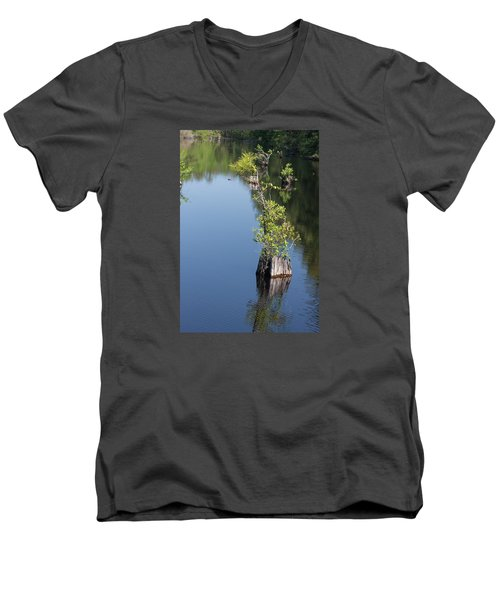 Men's V-Neck T-Shirt featuring the photograph Yawkey Wildlife Refuge - Cat Island by Suzanne Gaff