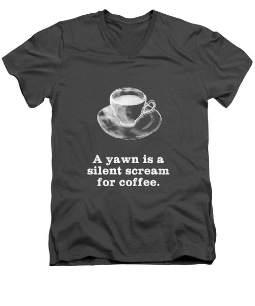 Yawn For Coffee Men's V-Neck T-Shirt
