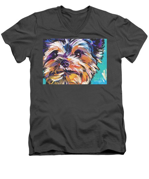 Yay Yorkie  Men's V-Neck T-Shirt