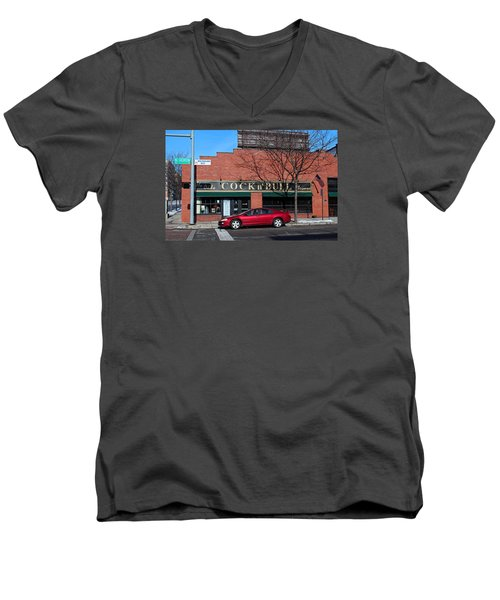 Men's V-Neck T-Shirt featuring the photograph Ye Olde Cock N Bull by Michiale Schneider