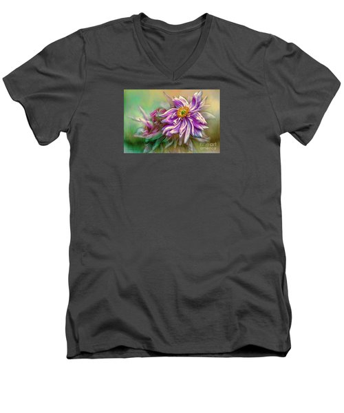 Year Of Mercy Men's V-Neck T-Shirt by Jean OKeeffe Macro Abundance Art