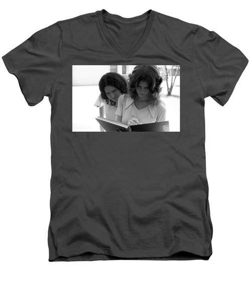 Yearbook Signing, 1972, Part 1 Men's V-Neck T-Shirt
