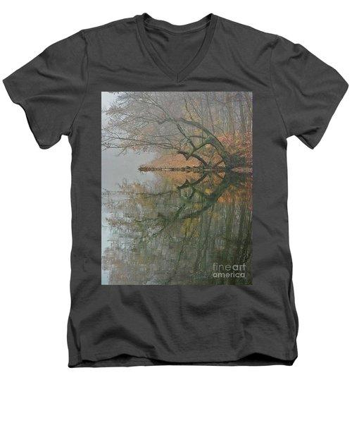 Yearming Men's V-Neck T-Shirt by Tom Cameron