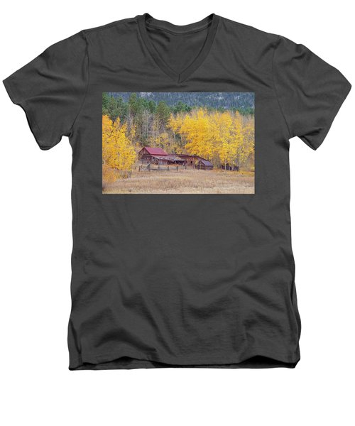 Yearning For The Tranquility Of A Rustic Milieu  Men's V-Neck T-Shirt