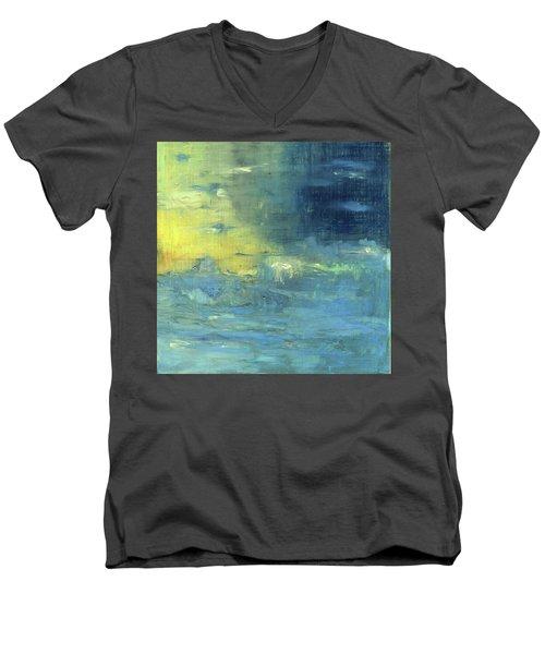 Yearning Tides Men's V-Neck T-Shirt by Michal Mitak Mahgerefteh