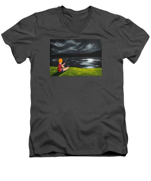 Yel No Catch A Kelpie Wi That Men's V-Neck T-Shirt