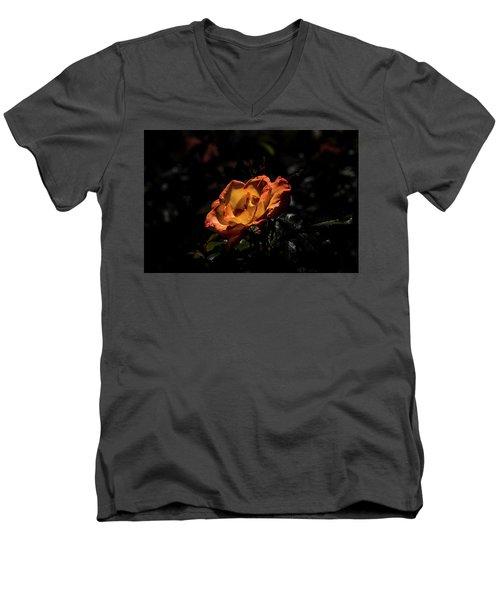 Yellow And Orange Men's V-Neck T-Shirt by Jay Stockhaus