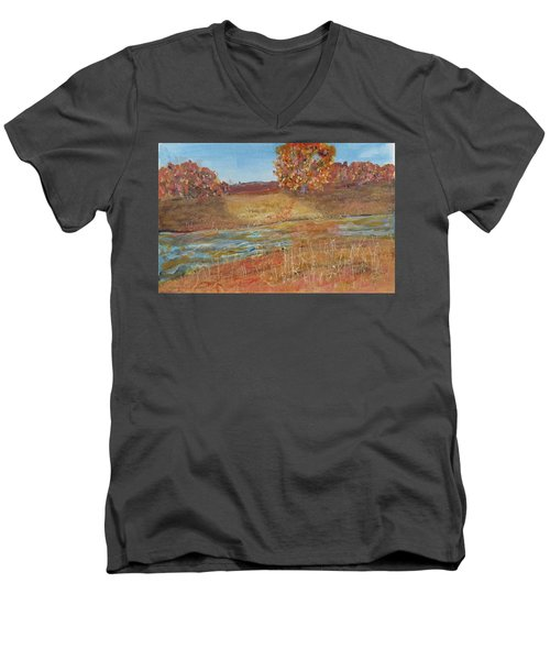 Yellow And Red Maples Men's V-Neck T-Shirt