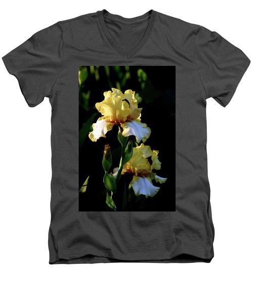 Yellow And White Irises 6681 H_2 Men's V-Neck T-Shirt