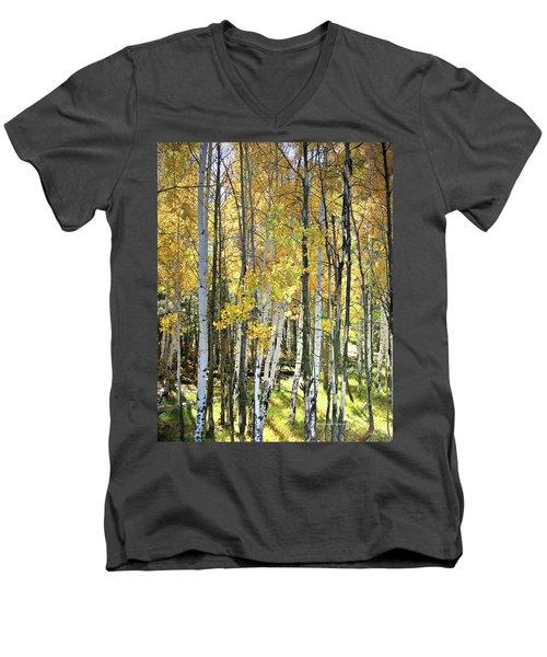 Yellow Aspens Men's V-Neck T-Shirt