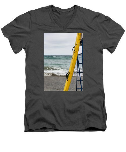 Yellow At The Ready Men's V-Neck T-Shirt