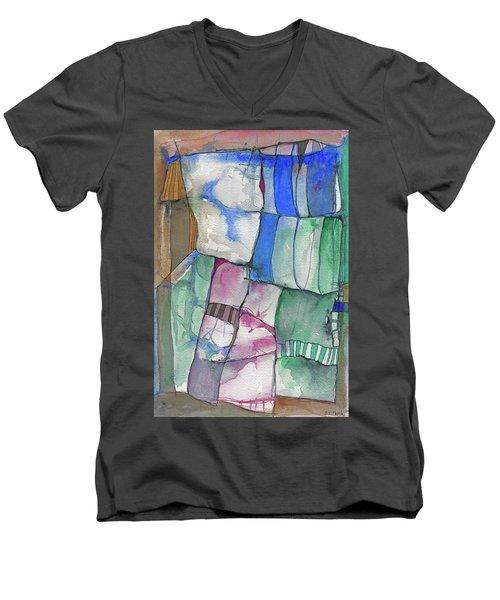 Yellow Awning Men's V-Neck T-Shirt by Sandra Church