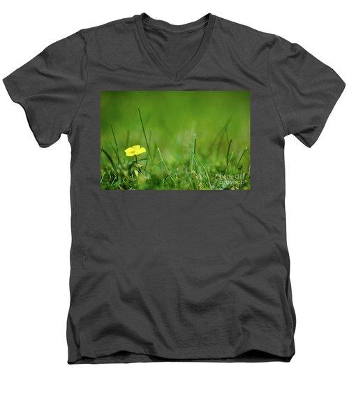 Men's V-Neck T-Shirt featuring the photograph Yellow Beauty by Kennerth and Birgitta Kullman