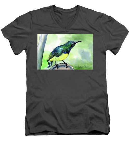 Yellow Bellied Sunbird Men's V-Neck T-Shirt
