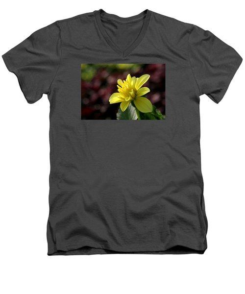 Yellow Bloom Men's V-Neck T-Shirt
