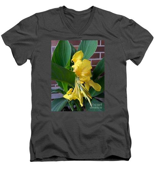 Yellow Canna Men's V-Neck T-Shirt
