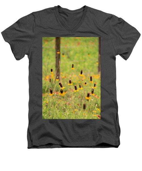 Yellow Cone Flower Men's V-Neck T-Shirt