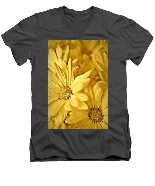 Yellow Daisies Men's V-Neck T-Shirt