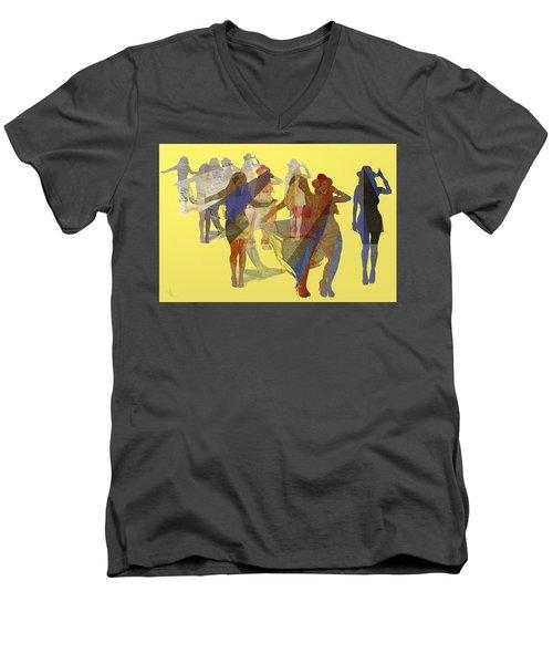Yellow Dance Men's V-Neck T-Shirt