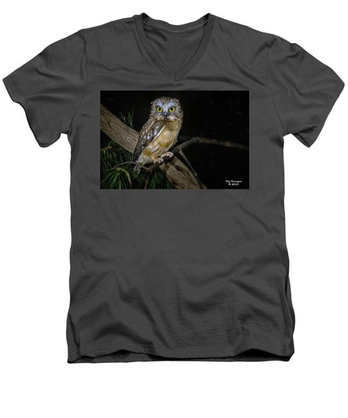Yellow Eyes In The Dark Men's V-Neck T-Shirt