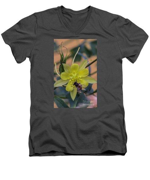 Yellow Flower 5 Men's V-Neck T-Shirt