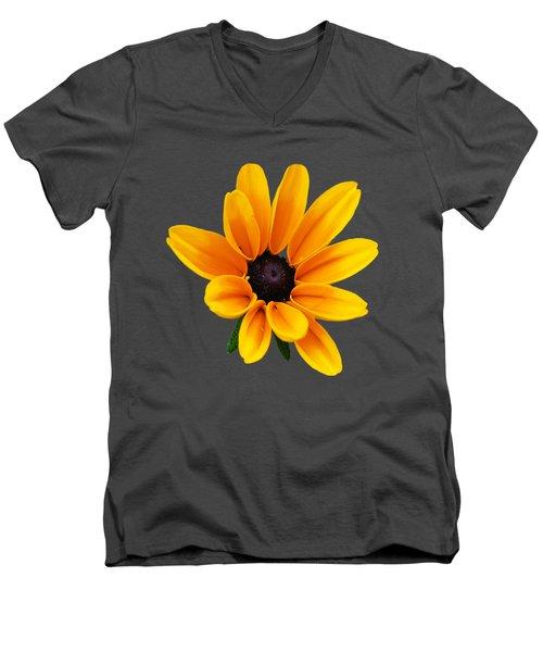 Yellow Flower Black-eyed Susan Men's V-Neck T-Shirt