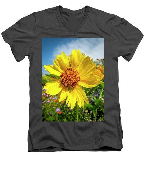 Yellow Flower Men's V-Neck T-Shirt