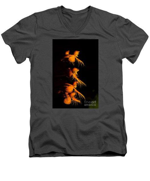Yellow-fringe Orchid Men's V-Neck T-Shirt