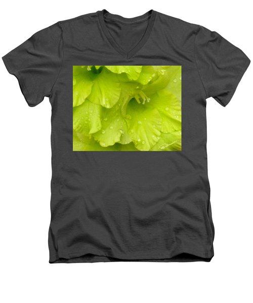 Yellow Gladiola Refreshed Men's V-Neck T-Shirt
