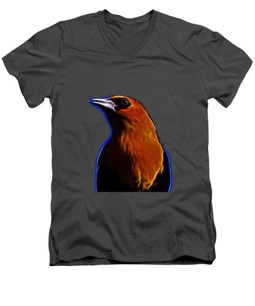 Men's V-Neck T-Shirt featuring the photograph Yellow Headed Blackbird by Shane Bechler
