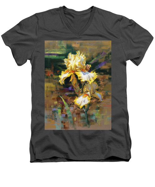 Yellow Iris II Men's V-Neck T-Shirt