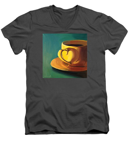 Yellow Java Men's V-Neck T-Shirt