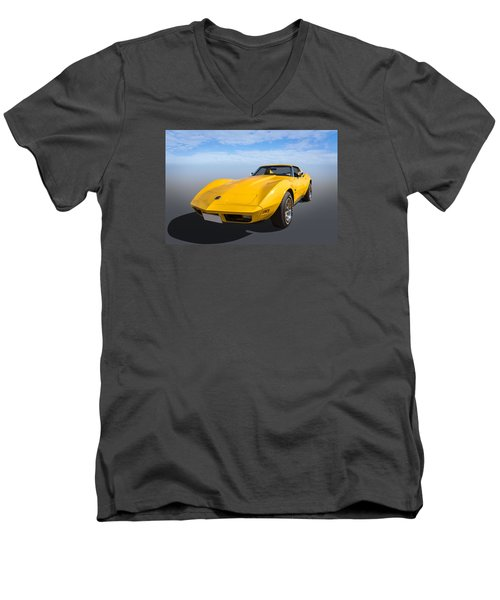 Men's V-Neck T-Shirt featuring the photograph Yellow by Keith Hawley