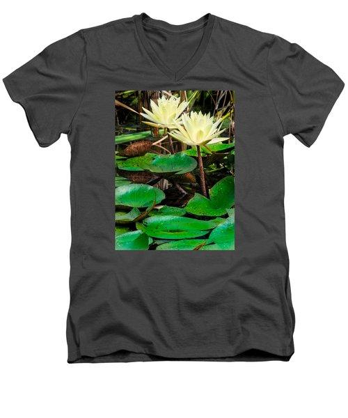 Yellow Lily Men's V-Neck T-Shirt