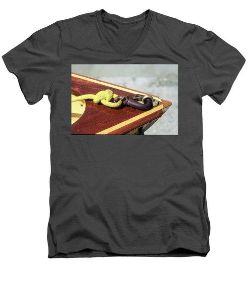 Yellow Line Men's V-Neck T-Shirt